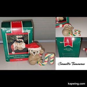 Vintage Hallmark Childs 5th Christmas Ornament